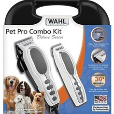 Professional Deluxe Pet Grooming Cordless Trimmer Dog Cat Kit Wahl Clippers >>> Visit the image link more details.