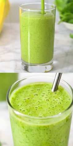 This Simple Tasty Spinach Smoothie is made with banana frozen mango baby spinach and almond milk It is incredibly delicious and it could be easily customized to your liking smoothie spinach drink videorecipe healthyrecipe bestrecipes weightloss Smoothie Detox, Smoothie Drinks, Fruit Smoothies, Healthy Smoothies, Healthy Drinks, Healthy Snacks, Nutrition Drinks, Diet Drinks, Simple Green Smoothies