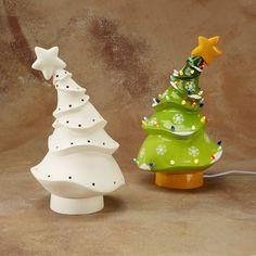 Gare - Leading Supplier of Ceramic Bisque & Glazes - Keramik Vintage Ceramic Christmas Tree, Christmas Clay, Christmas Tree Painting, Diy Christmas Tree, Christmas Decorations, Christmas Ornaments, Pottery Painting, Ceramic Painting, Animated Christmas Tree