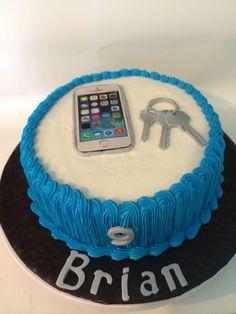 Cell phone & keys #cakes