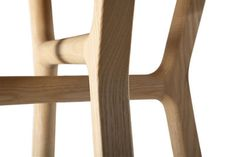 Affi Stool - H 42 cm - Wood Natural wood by Internoitaliano