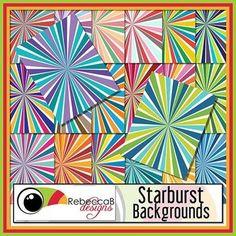 Starburst Backgrounds Free