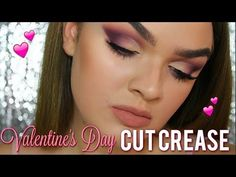Here's an mauve all matte cut crease for Valentine's Day date night! Morphe 35t, Valentines Day Date, Cut Crease, Mauve, Makeup Ideas, Palette, Make It Yourself, Youtube, Pallets