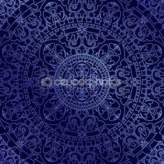 Вектор восточные синий фон с орнаментом — Стоковое векторное изображение © yuliaglam #26654513