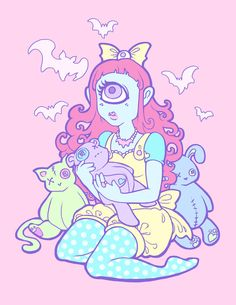 Magicalteatime pastel goth art, hipster wallpaper, iphone wallpaper, art and craft videos, Pastel Goth Art, Pastel Grunge, Arte Do Kawaii, Kawaii Art, Ouvrages D'art, Poses References, Wow Art, Creepy Cute, Visual Kei