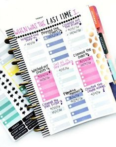 When was the last time planner page