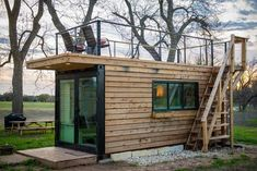 Elegant Container Home Tiny House Near Magnolia. Summary: As seen in Magnolia Journal (May Try out container home living in this unique tiny home! London Apartments For Rent, Rent In London, Container Van House, Container Cabin, Converted Shipping Containers, Shipping Container Homes, Tiny Houses For Rent, Casas Containers, Van Home