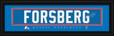 """Peter Forsberg Nordiques """"NHL Vintage"""" Player Signature Stitched Jersey Print"""