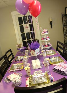 1st Birthday Princess Tea Party 50th Girls