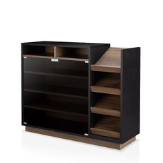 null Contemporary 16 Pair Shoe Storage Cabinet Consists of the glass-enclosed shelving and slanted side compartments offer a variety of storage options that will store all of life's necessities. Shoe Rack Organization, Shoe Storage Cabinet, Modern Furniture, Furniture Design, Bedroom Furniture, Moving Boxes, Wal, Storage Spaces, Shelving