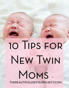 Are you a new or soon-to-be twin mom? Here are ten things I wish I would have known about when my twins were very young. Tips, encouragement, and ideas.