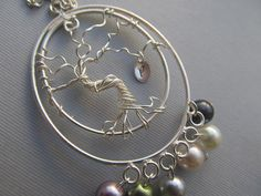 Tree Of Life Pendant Necklace Personalized family tree by IrisJane, $18.25