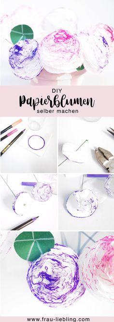 Schnell und einfach DIY Blumen aus Papierservietten selber machen
