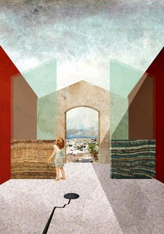 Open air national reserve museum. Lighthouse sea hotel. Siracusa. Young architects competition entry.