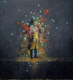 """""""Täter"""" 2009, oil on canvas - Jonas Burgert"""
