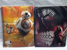 Star Wars Force Awakens Spiral Notebook 80 wide ruled  BB-8 Storm Troopers 2-ct  #Disney