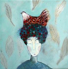 Hen Flower Head - Shirley Vauvelle
