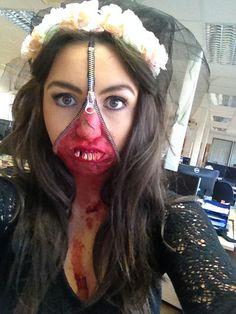 Maureen our Zombie Bride #bestmakeupever