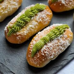 These bao are a Chinese bakery staple that I grew up loving! Soft fluffy buns covered in coconut and filled with a silky smooth slightly sweet buttercream. I gave it a slight twist by making the cream green tea. I love how the green really catches your eye! Find the recipe on my blog now! Or link to it in my bio! #coconutcreambun #greentea #chinesebakery #chinesefood #buttercream #carblover #breadbaking #breadislife #eeeeeats #eater #thebakefeed #thesweetandsourbaker #thebakefeed…