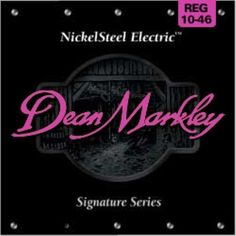 Dean Markley Nickel Steel Electric 2503B - .010-.046 Regular by Dean Markley. $2.50. Here's a secret, Dean Markley NickelSteel Electric guitar strings are made of the highest quality 8% zinc steel for incredible tone that lasts longer than other strings. Okay, it's not really a secret, but there's no denying that Dean Markley NickelSteel Electric guitar strings totally rule! If you want the tone that's turned tons of top records gold, platinum, and beyond for over 30 years,...