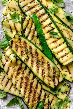 Make Perfectly Grilled Zucchini all summer long! Quick and easy, great as a side dish with anything you're grilling.