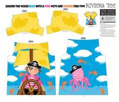 Sailing the ocean blue... fabric by retrorudolphs on Spoonflower - custom fabric