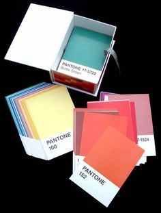 customer image gallery for pantone postcard box.