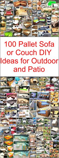 100 Pallet Sofa or Couch DIY Ideas for Outdoor and Patio: These DIY pallet projects will make your patio full with the beauty of nature and well-formed in Wooden Pallet Projects, Pallet Crafts, Pallet Ideas, Wood Ideas, Pallet Patio Furniture, Pallet Sofa, Woodworking Projects For Kids, Diy Woodworking, Diy Couch