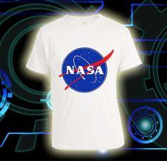 NASA Logo Custom Tshirt print screen Tshirt Awesome by Livesmart46, $16.88