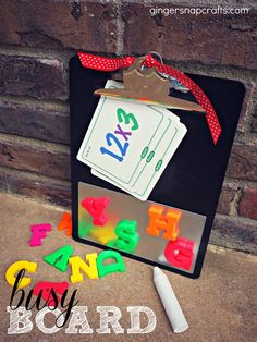 busy board from Ginger Snap Crafts