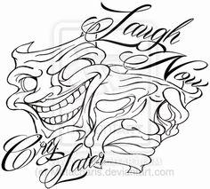 Pictures Of Smile Now Cry Later Masks Outline Kidskunstinfo