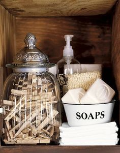 Rustic Crate into Laundry Room Storage - Country Living