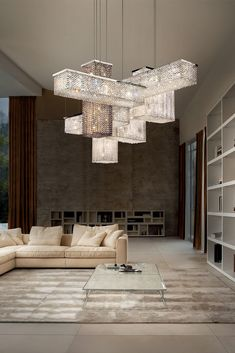 · The Contemporary Italian Designer Swarovski Crystal Geometric Chandelier is the ultimate statement indeed. The finest juxtaposition of luxurious lighting modules. A modern touch, offering magic… Luxury Chandelier, Contemporary Chandelier, Luxury Lighting, Chandelier Lighting, Modern Crystal Chandeliers, Chandelier Ideas, Italian Lighting, Living Room Designs, Living Room Decor