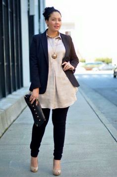 Cute Outfits For Plus Size Women. Graceful Plus Size Fashion Outfit Dresses for Everyday Ideas And Inspiration. Plus Size Refashion. Mode Outfits, Stylish Outfits, Fall Outfits, Office Outfits, Office Attire, Curvy Outfits, Curvy Work Outfit, Outfit Work, Black Outfits