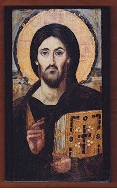 Handmade Byzantine Icon Of Jesus Christ Pantocrator