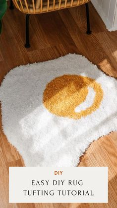 Crafts To Do, Hobbies And Crafts, Diy Crafts, Tufting Diy, Funky Rugs, Indie Room Decor, Do It Yourself Crafts, Custom Rugs, Contemporary Rugs