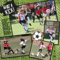 soccer scrapbook layouts   Via Robin Williams