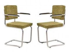 Ridge Kink Rib Stühle Stuhl Freischwinger Grün