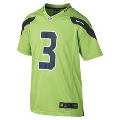 NFL Seattle Seahawks Color Rush Game (Russell Wilson) Kids  Football Jersey  Size XL (Green) ea011b6ca