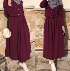 Simple outfit for every day Admins … Stylish Hijab, Modest Fashion Hijab, Modern Hijab Fashion, Street Hijab Fashion, Hijab Fashion Inspiration, Fashion Outfits, Iranian Women Fashion, Islamic Fashion, Muslim Fashion