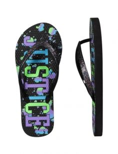 Justice Clothes for Girls Outlet | Justice Logo Flip Flops | Girls Flip Flops Shoes | Shop Justice