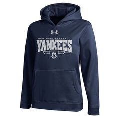 Notre Dame Fighting Irish Under Armour Youth Fleece Pullover Hoodie - Navy  Blue f721d6643