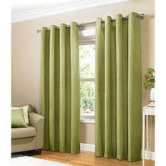 ASDA Green Plain Eyelet Curtains - 90x90Inch £30