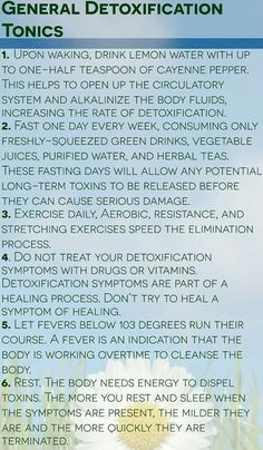 Detox tips from Hippocrates Health Institute fb page