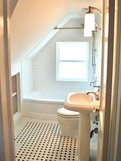 this is the up stairs baths Del Ray Classic Cape Cod Renovation