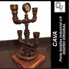 Porta Botellas Vintage / Industrial/ Pipe/ Tuberia - $ 2,320.00 en Mercado Libre