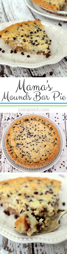 If you love Mounds bars, then you will love this easy and delicious pie. There are layers of happiness with each bite. The coconut is sweet and the chocolate gives it a nice crunchy texture yet it still has a creaminess to it. Simply delicious!