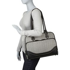 "Mobile Edge Classic Herringbone Laptop Tote (Large)- 16""PC / 17""MacBook Pro - eBags.com"