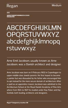 Regan - Typeface by Jonathan Hill, via Behance