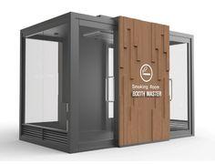 흡연실/흡연부스/담배연기제거기 - 흡연부스 디자인 : 네이버 블로그 Container Shop, Container Design, Kiosk Design, Booth Design, Coffee Shop Counter, Bus Stop Design, Office Cube, Bathroom Design Layout, Music Studio Room